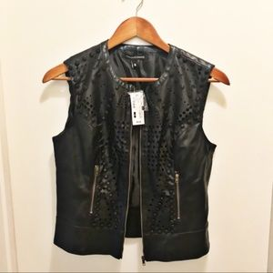 FOREIGN EXCHANGE NWT Faux Leather Vest Medium
